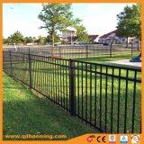 Aluminiumpuder-überzogener flache Oberseite-Garten-Zaun