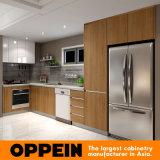 Oppein moderne en bois laqué de mélamine du grain de l'armoire de cuisine en bois (OP16-M02)