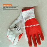 Безопасности ладони латекса K-96 90g/Pair Polycotton перчатки застрявшей Coated работая