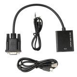 VGA к кабелю HDMI с микро- силой USB