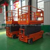 Peso ligero autopropulsado eléctrico de control remoto de plataforma elevadora de tijera hidráulico para la venta