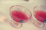 Copos de vidro desobstruídos do vidro do gelado do Milkshake