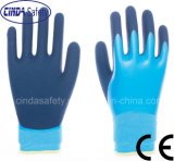 Окунуто/покрыл перчатки трудной защитной техники безопасности на производстве работая