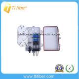 Casella di distribuzione ottica di FTTH con 4port i connettori della st LC dello Sc FC, casella di distribuzione del divisore