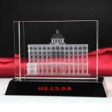 3D Presse-papier van de Kubus van het Glas van het Kristal van de Laser Architecturale Model