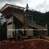 Trommel de lavagem móvel da mina de ouro 50tph