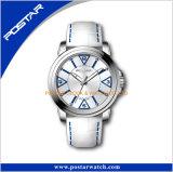 La famosa marca señoras Hombre de oro rosa China productos reloj de pulsera con correa de cuero