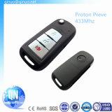 Flip Car Key pour Proton Preve 3 boutons 433MHz