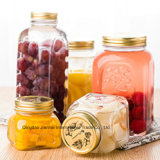 Bottiglia di vetro del muratore di memoria dell'alimento di nuovo disegno su ordinazione