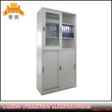 Gabinete de armazenamento de vidro do metal da porta deslizante