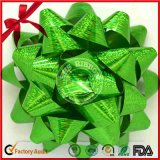 Manufature Foil Metallic Gift PP Ribbon Christmas Star Bow