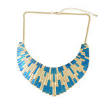 Collier van de Toebehoren van de manier Halsband van de Verklaring van de Slab van het Email van Femme de Blauwe