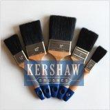Brosse à peinture (Brosse plate avec poils noirs naturels purs BT-001)