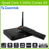 El mejor Quad Core TV Box T5 Amlogics805 Quad Core Support 3D 1080P HD Sex Pron TV Box