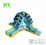 4つの車線の商業警備員の乾燥した膨脹可能なスライド