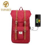 Melhor qualidade de vários bolsos à prova de carga USB Mochila Saco de viagem