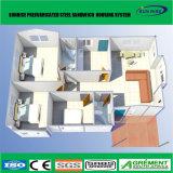 低価格ライト鉄骨構造のプレハブのフラットパックのオフィスの容器の家