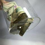 Dispositif de collecte de fonds s'affiche Don peut Jar plexiglas acrylique clair