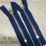Metallreißverschluß der Kleid-Zubehör-45yg für Jeans-Hosen