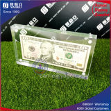 Acrylique High Clear Money Currency Holder avec Maganet