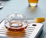 Чайник Pyrex Handmade стеклянный с причудливый держателем цвета