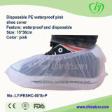 PE impermeable y antideslizante Shoecover en color rosa