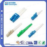 Cordon de raccordement de fibre optique LC à LC de la transmission de données