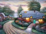 Riproduzione delle pitture a olio di paesaggio del giardino del Thomas