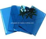 4mm 12mm verre bleu trempé