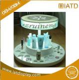 Étalage cosmétique avec l'étagère acrylique, crémaillère d'étalage