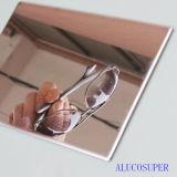 Panneau en sandwich en aluminium de revêtement miroir
