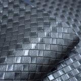 Cuoio di pattino artificiale sintetico di goffratura strutturato del sacchetto dell'unità di elaborazione del tessuto di cestino