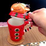 Regalo de Navidad de promoción cerámica taza de café taza taza de regalo de Navidad creativa