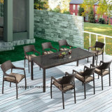 Mobiliário de exterior Barato preço de vime sintético Cube 8-10 Pessoa mesa de jantar e cadeira (YTA581&NO ANO020-13)
