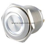 19mm Corps court 12V White Ring LED Metal Switch