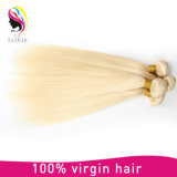 安く100%年のバージン613#のブロンドのまっすぐなブラジルの人間の毛髪のよこ糸