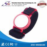 Wristband impermeável macio do nylon de RFID