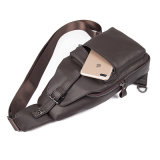 Desportos ao ar livre em couro Casual Linga Crossbody Bag Airbag torácico Saco de ombro para homens