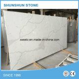 Dessus de marbre artificiels blancs de banc de cuisine de pierre de quartz de Calacatta
