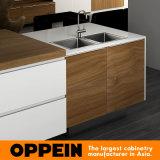 Oppeinの現代すべて島デザインPVC木製の食器棚(OP16-PVC02)