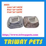 Komfort Flannel&Hessian Haustier-Bett (WY161008A/C)