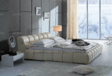 Кровать самомоднейшей спальни квартиры A546 мягкая
