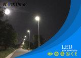 Indicatore luminoso solare che carica la lampada di via esterna della strada di controllo di sensore LED