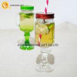 Tarro de masón del tarro del vidrio de consumición de la bebida del alimento