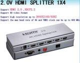 Splitser HDMI (HDMI 2.0, HDCP2.2, 4K, de uitbreiding van IRL, EDID beheer, RS232)