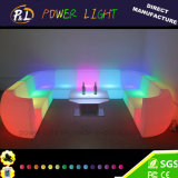 Iluminado LED Furniture Bar Sofá de plástico cadeira