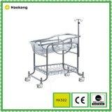 Meuble d'hôpital pour poussette bébé médicale en acier inoxydable (HK502)