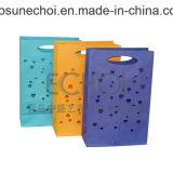 Sacco di carta di timbratura caldo del regalo decorativo del portello di stampa su ordinazione di marchio