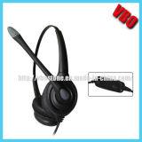 Binaural Durable teléfono para auriculares con conector USB (VB-1002NC-USB)