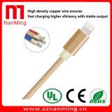 Кабель USB молнии с Nylon оплеткой и алюминиевым кабелем данным по USB